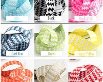 Zig Zag Ribbon, Chevron Ribbon, Double Sided Ribbon, Decorative Ribbon, Full Reel Ribbon, Craft Ribbon, Gift Wrap Ribbon, 15mm x 10M Ribbon