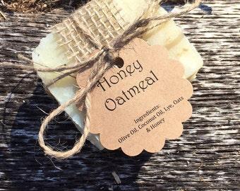 Natural Handmade Honey Oatmeal Soap