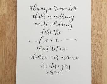 Always Remember Custom-made Avett Brothers Love print
