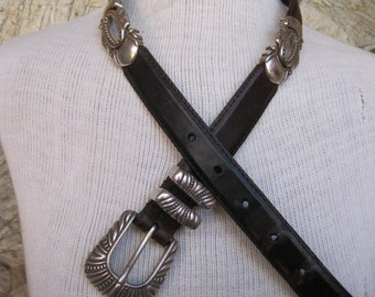 Brighton style belt with Silver ornamentation