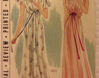 1930s Pictorial review dress/ nightgown pattern size 42 in.