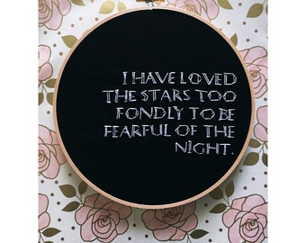 """Hand embroidered 7"""" hoop"""