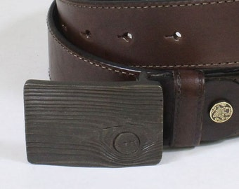 men's leather belt Wood The belt is of thick leather for men Belt Made Of Genuine leather Black and brown hendmade