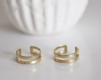 Double raw brass Adjustable ring