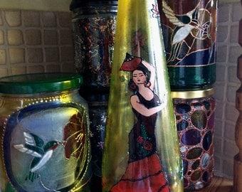 Olé! Upcycled Spanish style bottle