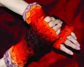 Sunset Dragonsale Fingerless Gloves