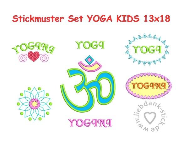 Embroidery design yoga kids designs applique