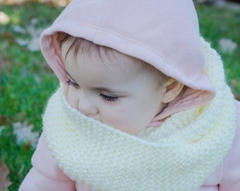 Hand Knit Baby and Toddler Infinity Scarf