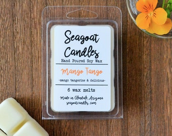 SALE | Mango Tango | Tangerine | All Natural Soy Wax | Scented Wax Melts | Small Batch | Hand Poured