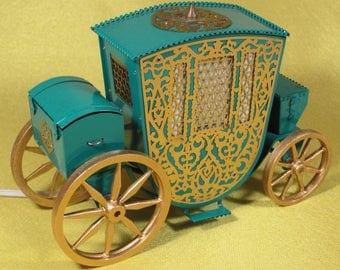 Beautiful Vintage Desk Night Lamp Luminaire Antique Carriage Coach USSR