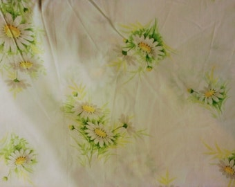 Vintage Floral Daisy Flat Sheet - Full/Double - Vintage, Girly Bedding