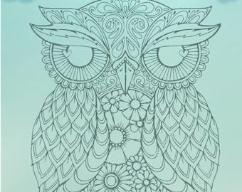 Owl Mandala / Mandala SVG / Owl Decal / Owl Mandala Sticker / Owl Vinyl Decal / Owl Zentangle / Mandala svg / Mandala Dxf / Mandala Png