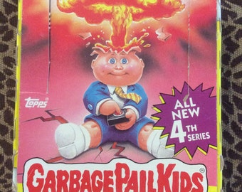 Garbage Pail Kids Series 4 Trading Cards Stickers Original Box Wrappers Set of Cards 1986