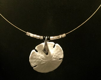 Sand Dollar with decorative bead accents