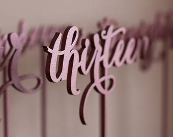 Wedding Table Number - Golden table numbers - Rose gold Table Numbers - Freestanding -  Table Number
