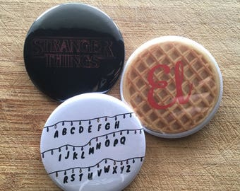 Stranger Things Netflix pin-back Button Pack 2.25 inch