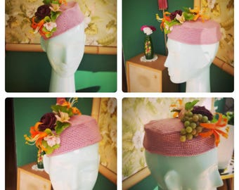 1940s Crochet Pillbox Hat