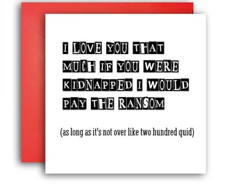 Anniversary Card/Funny Greetings Card