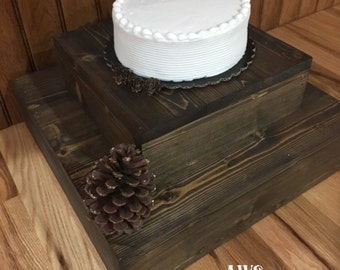 Rustic Wood Cake Stand, Rustic Cupcake Stand, 2 Tier Cupcake Stand, 2 Tier Cake Stand, Country Wedding, Wood Cake Stand, Wedding