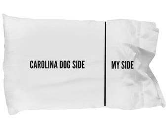 Carolina Dog Pillow Case - Funny Carolina Dog Pillowcase - Carolina Dog Gifts - Carolina Dog Side My Side