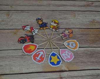 Paw Patrol Cupcake Toppers-Paw Patrol Toppers-Paw Patrol Birthday Decoration-Paw Patrol Party Decoration-Paw Patrol Birthday Party,BANNER