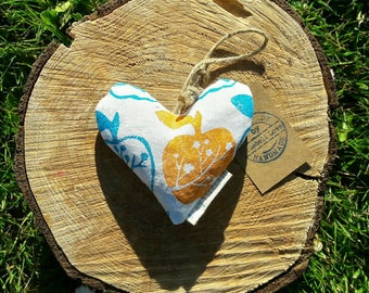 Orchard Blossom Lavender Heart, Decorative heart, Lavender sachet, Scented pillow, Blossom, Apples