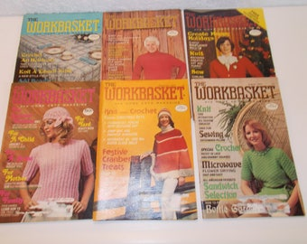 The Workbasket and Home Arts Magazine (6 Issues) 1977