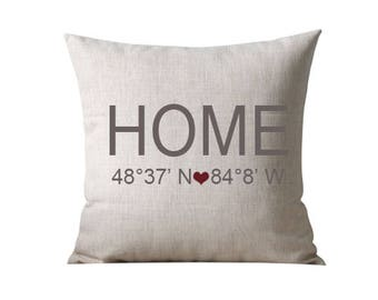Personalized Home Pillow Cover, Cushion Cover, Pillow Covers, Home Decor, Home Pillow, Burlap Throw Pillow, housewarming gift
