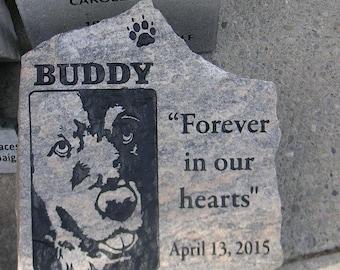 Pet Memorial Stone (Portrait Stone) Grave Marker