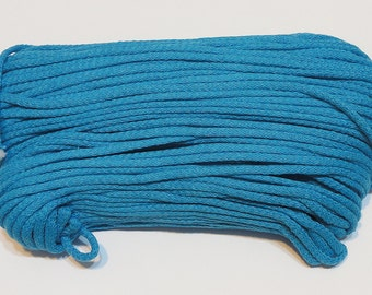 Navy Blue cotton cord 100 m (110 yd) 5 mm (0,2 in), cotton rope, macrame cord