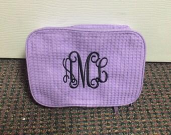 Waffle Make up Bags/ Monogram Waffle Make up bags/ Personalized Waffle Make up bags/ Initials Waffle Make up bags/ Monogram make up bag