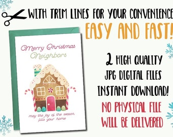 Instant download printable christmas cards, instant download holiday card, Christmas printable cards, Set of 2 5x7 Christmas printable cards
