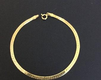 Vintage Gold over 925 Sterling reversible bracelet