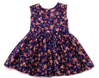 Tea Party Dress, Toddler Dress, Flower Girls Dress, Trendy Kids Clothes, Girls Clothing, Girls Party Dress, Girls Dress,  Girls Bow Dress