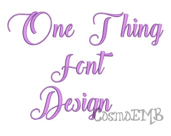 5 Size One Thing font Embroidery Design Machine Embroidery - Digital INSTANT DOWNLOAD