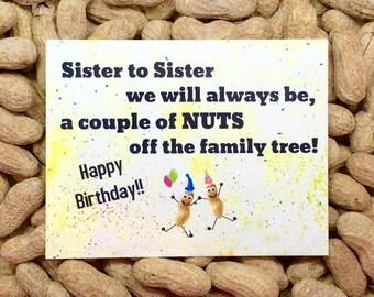 Sister & Sister Card! Gag Gift / Gift for Her / Gift for Him / Funny Greeting Card / Prank Gift / Birthday Card / Funny Card / Novelty gift