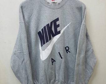 Vintage Nike Big Swoosh Sweatshirt Jumper Pullover/Nike Air Hip Hop Style Rare