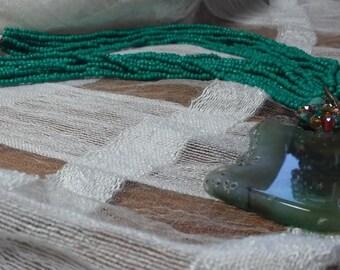 Multi strand geode necklace