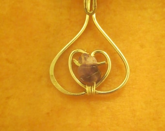 Delicate Heart with Amethyst