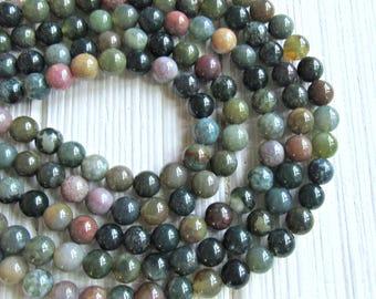 8mm Fancy Jasper, full strand, Indian Jasper beads, multicolor Jasper beads, 8mm Jasper beads, multicolor jasper, jewelry supplies, gemstone