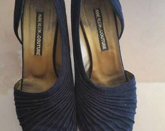 Vintage Anne Klein Couture suede heels