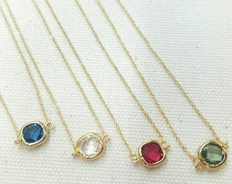 Shining square necklace
