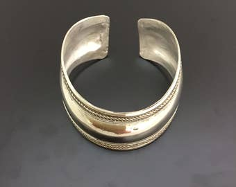 Torque bangle, statement silver bangle, torque silver bangle, rope bangle,larger silver bangle, curved bangle, Sterling silver bangle