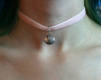 Pink Velvety Mermaid Choker