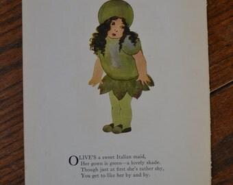 Vintage Print: Olive & Watermelon