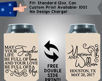 May Your Life Together Be Full Of Love And Your Love Be Full Of Life Collapsible Fabric Wedding Cooler Double Side Print (W23)
