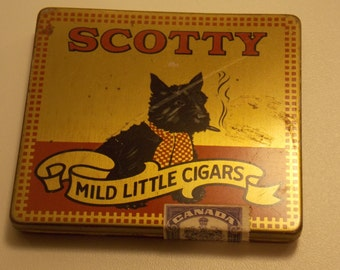 Rare Scotty Quebec cigar tin