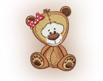 Cute Teddy Bear Embroidery Design