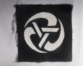 Levellers Rolling Anarchy Patch Hand Painted