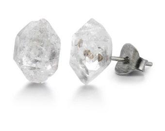 Herkimer Diamond Sterling Silver Stud Post Earrings